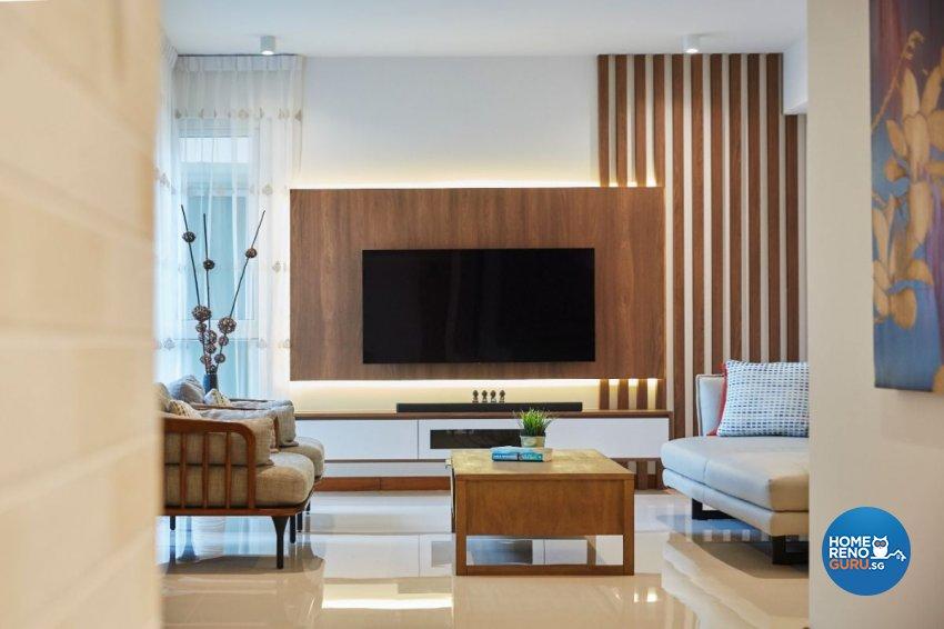 Contemporary Design - Living Room - Condominium - Design by Carpenters 匠