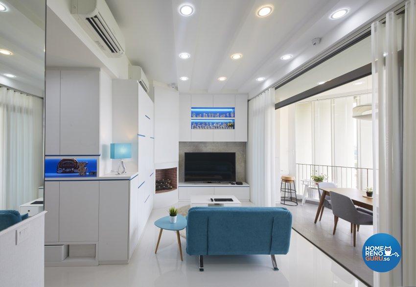 Country, Modern Design - Living Room - Condominium - Design by Carpenters 匠