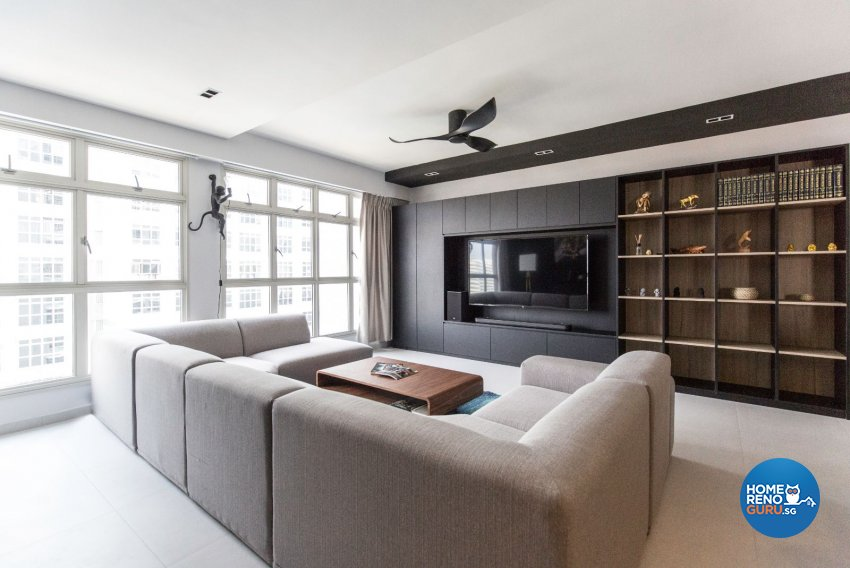 Modern Design - Living Room - HDB 5 Room - Design by Carpenters 匠