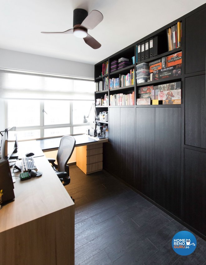 Modern Design - Study Room - HDB 5 Room - Design by Carpenters 匠