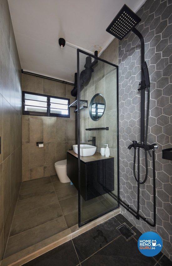 Industrial Design - Bathroom - HDB Executive Apartment - Design by Carpenters 匠