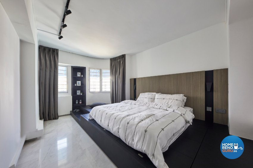 Industrial Design - Bedroom - HDB Executive Apartment - Design by Carpenters 匠