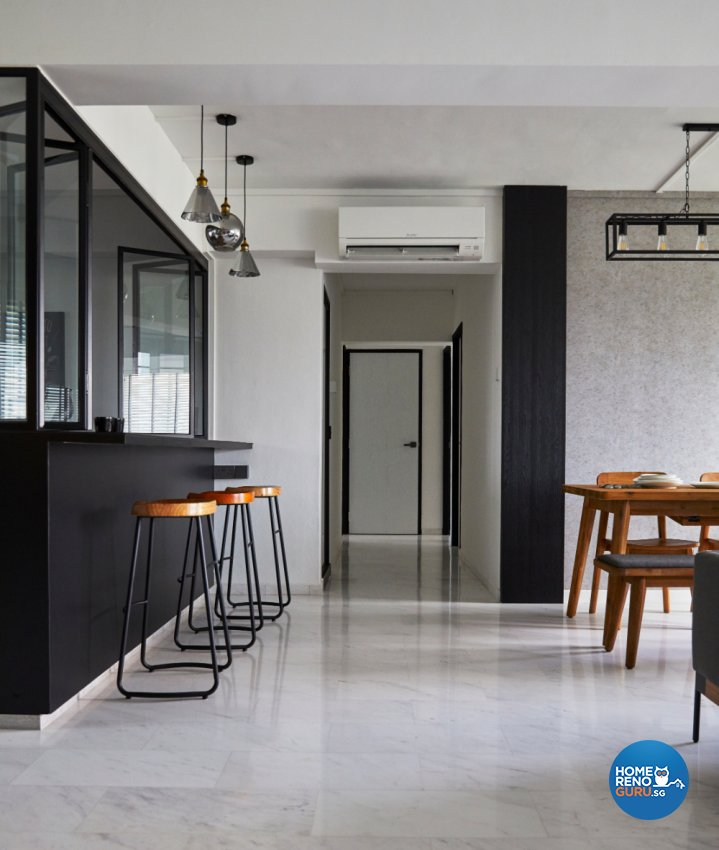 Industrial Design - Kitchen - HDB Executive Apartment - Design by Carpenters 匠