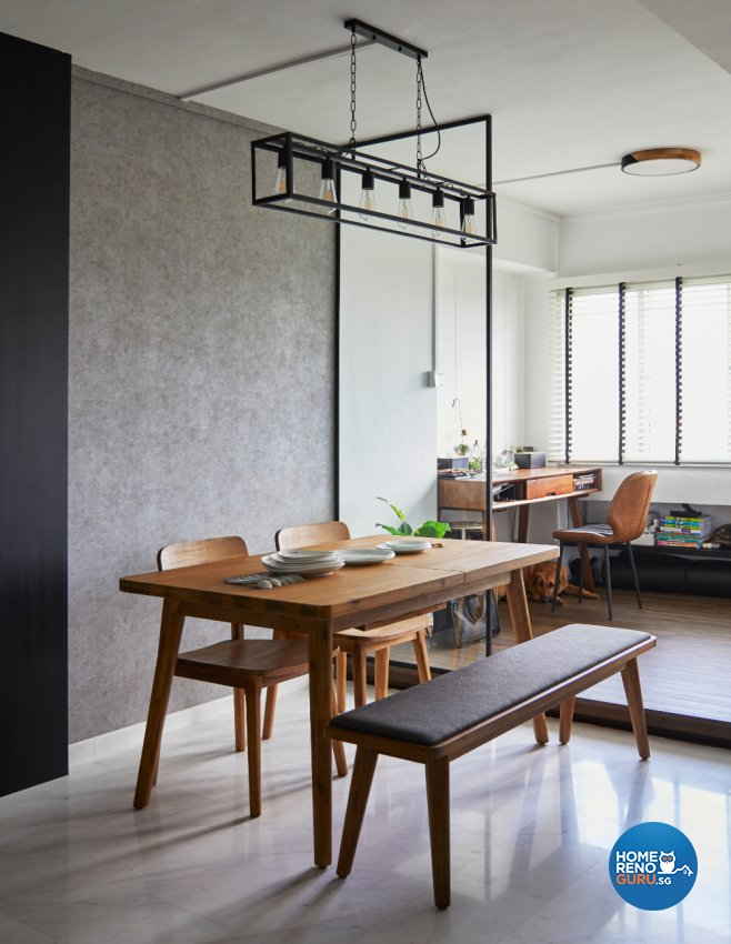 Industrial Design - Dining Room - HDB Executive Apartment - Design by Carpenters 匠