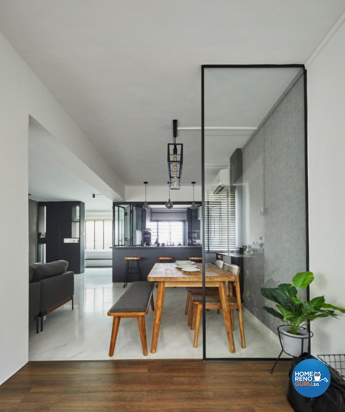 Industrial Design - Balcony - HDB Executive Apartment - Design by Carpenters 匠