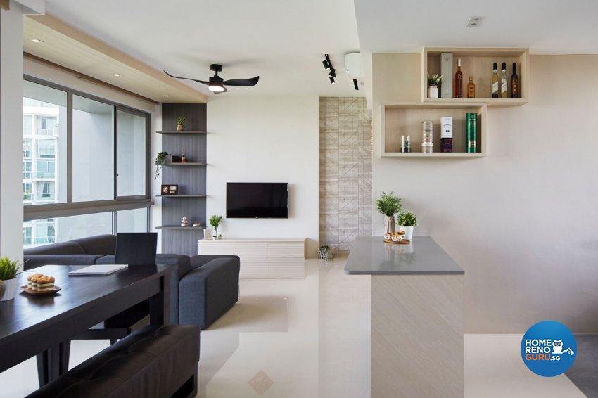 Contemporary, Scandinavian Design - Living Room - Condominium - Design by Carpenters 匠