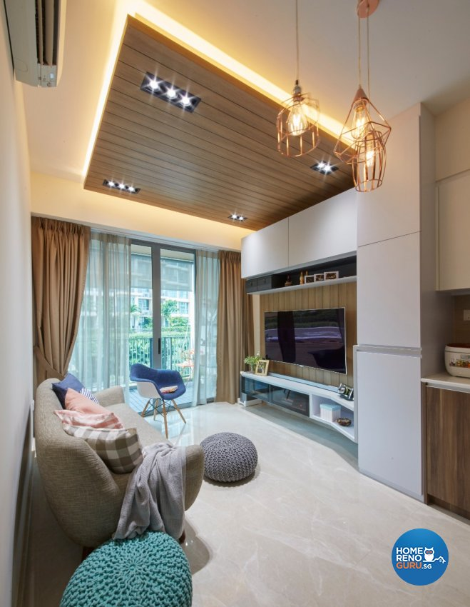 Country, Modern, Scandinavian Design - Living Room - Condominium - Design by Carpenters 匠