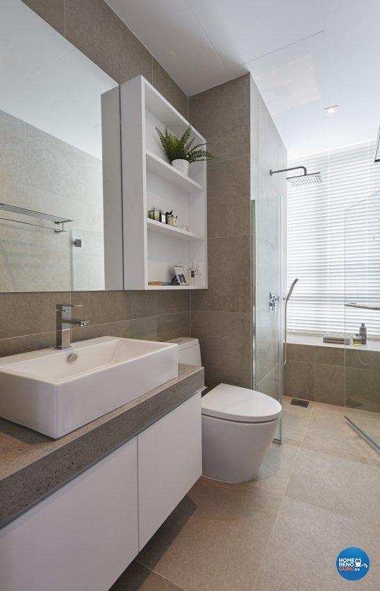 Country, Mediterranean, Tropical Design - Bathroom - Condominium - Design by Carpenters 匠