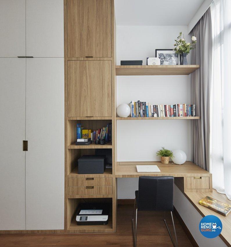 Country, Mediterranean, Tropical Design - Study Room - Condominium - Design by Carpenters 匠
