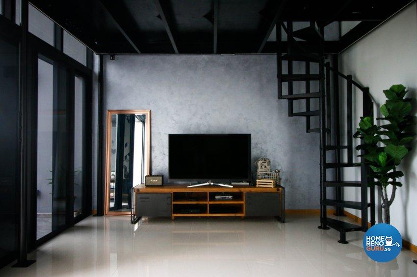 Industrial Design - Living Room - Condominium - Design by Carpenters 匠