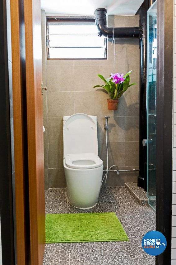Modern, Retro Design - Bathroom - HDB 3 Room - Design by Chapter B Pte Ltd