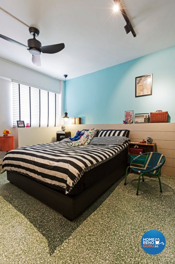 Modern, Retro Design - Bedroom - HDB 3 Room - Design by Chapter B Pte Ltd
