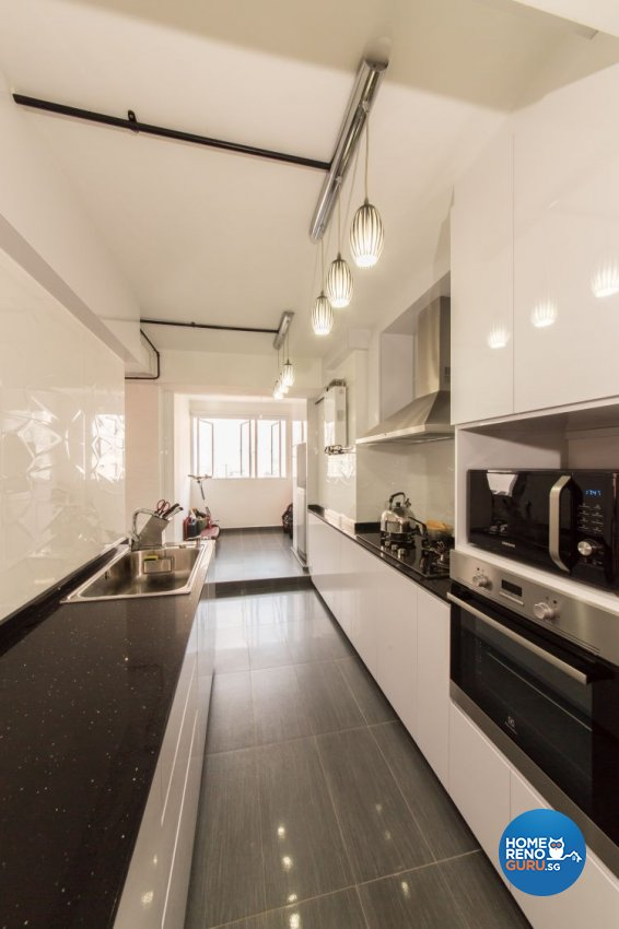 Industrial, Modern Design - Kitchen - HDB 3 Room - Design by Chapter B Pte Ltd