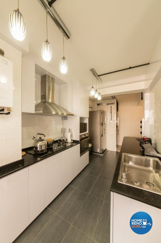 Industrial, Modern Design - Kitchen - HDB 3 Room - Design by Chapter B Pte Ltd