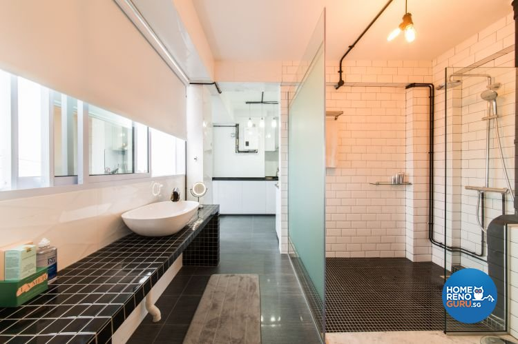 Industrial, Modern Design - Bathroom - HDB 3 Room - Design by Chapter B Pte Ltd