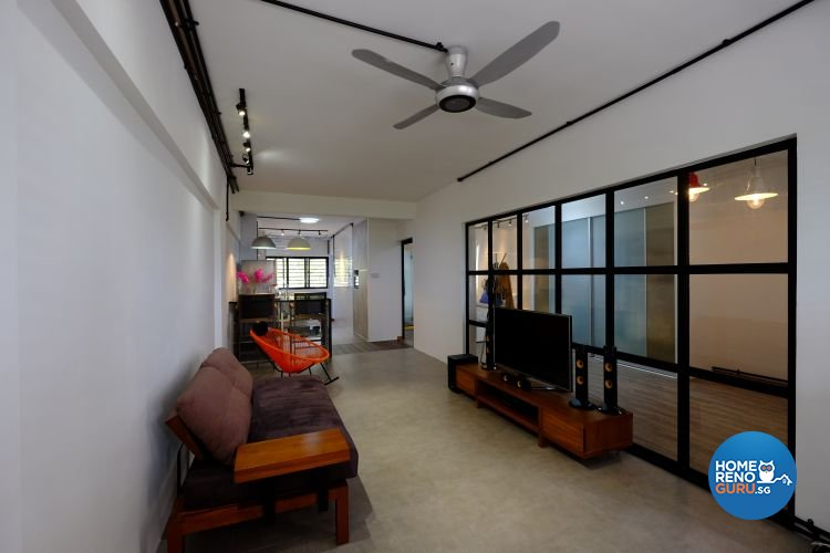 Eclectic, Industrial Design - Living Room - HDB 3 Room - Design by Chapter B Pte Ltd