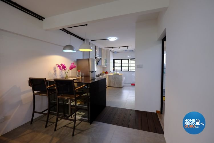 Eclectic, Industrial Design - Dining Room - HDB 3 Room - Design by Chapter B Pte Ltd