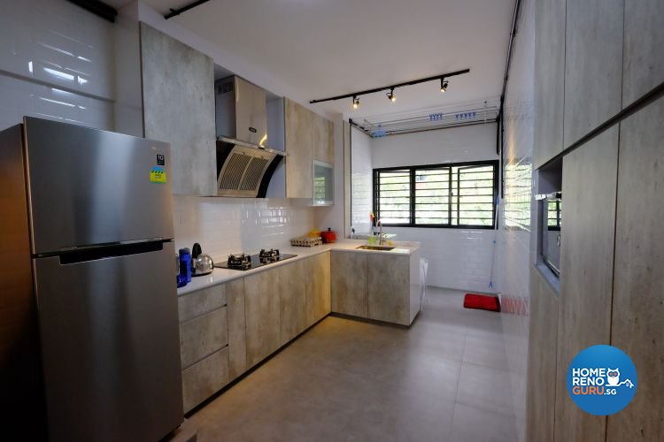 Eclectic, Industrial Design - Kitchen - HDB 3 Room - Design by Chapter B Pte Ltd