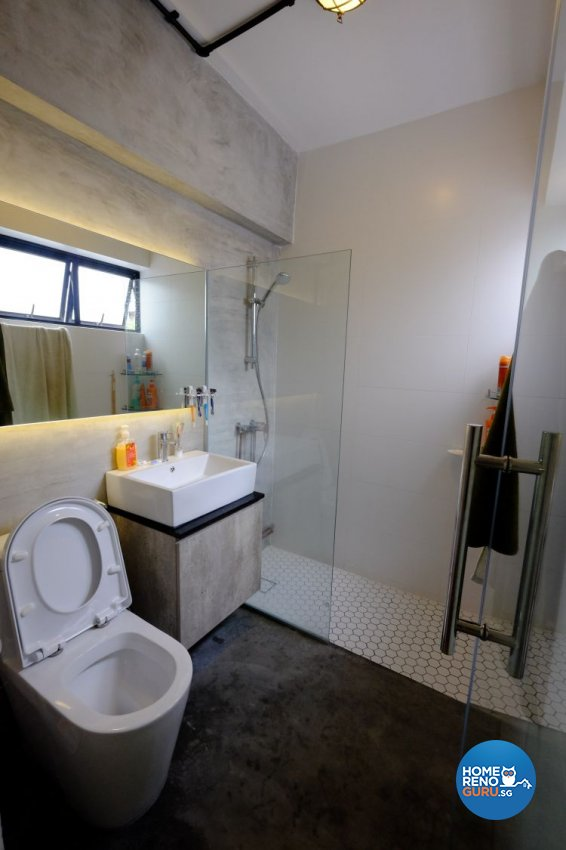 Eclectic, Industrial Design - Bathroom - HDB 3 Room - Design by Chapter B Pte Ltd
