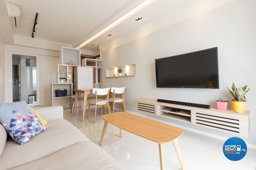 Scandinavian Design - Living Room - Condominium - Design by Charlotte's Carpentry Pte Ltd