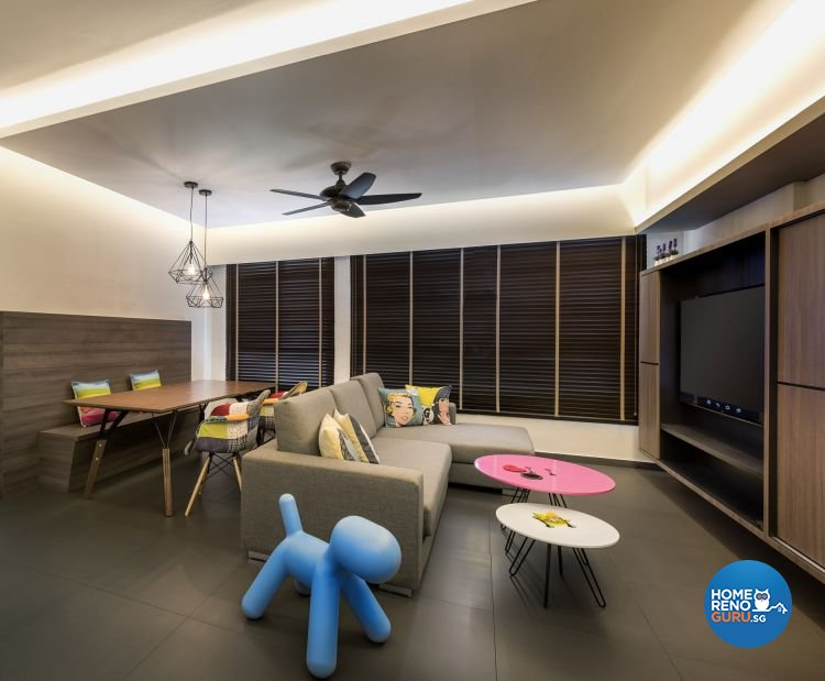 Contemporary, Modern, Scandinavian Design - Living Room - HDB 3 Room - Design by Ciseern by designer furnishings Pte Ltd