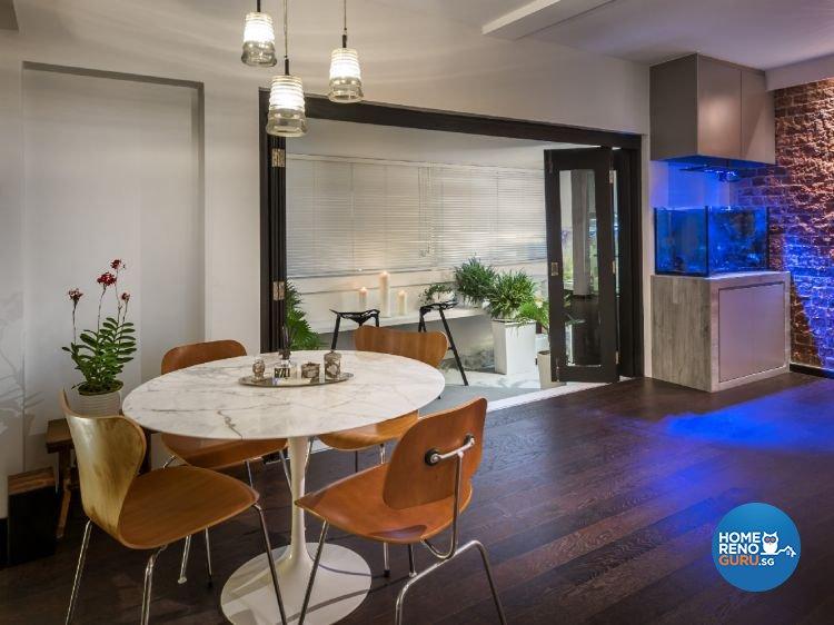 Industrial, Modern Design - Balcony - Condominium - Design by Ciseern by designer furnishings Pte Ltd