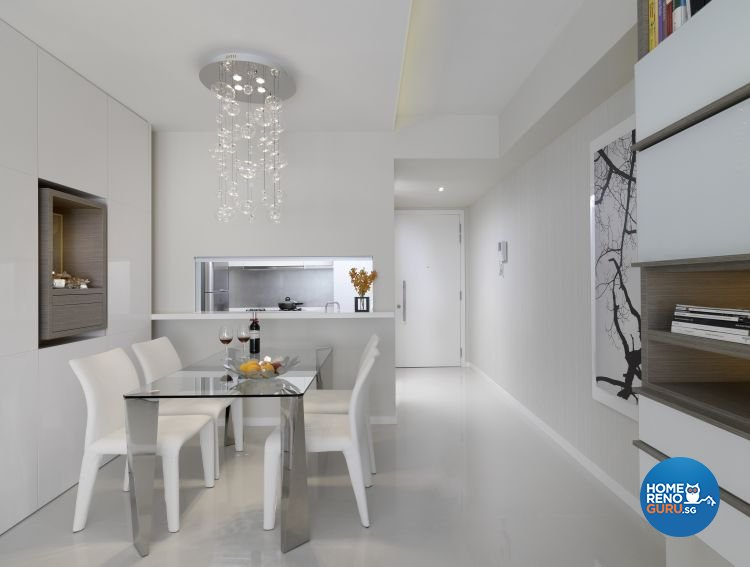 Minimalist, Modern, Scandinavian Design - Dining Room - Condominium - Design by Ciseern by designer furnishings Pte Ltd