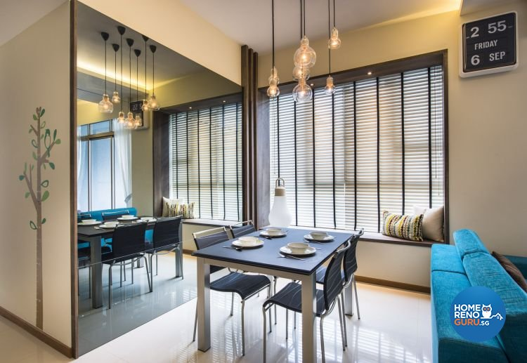 Eclectic, Industrial, Modern Design - Dining Room - Condominium - Design by Ciseern by designer furnishings Pte Ltd