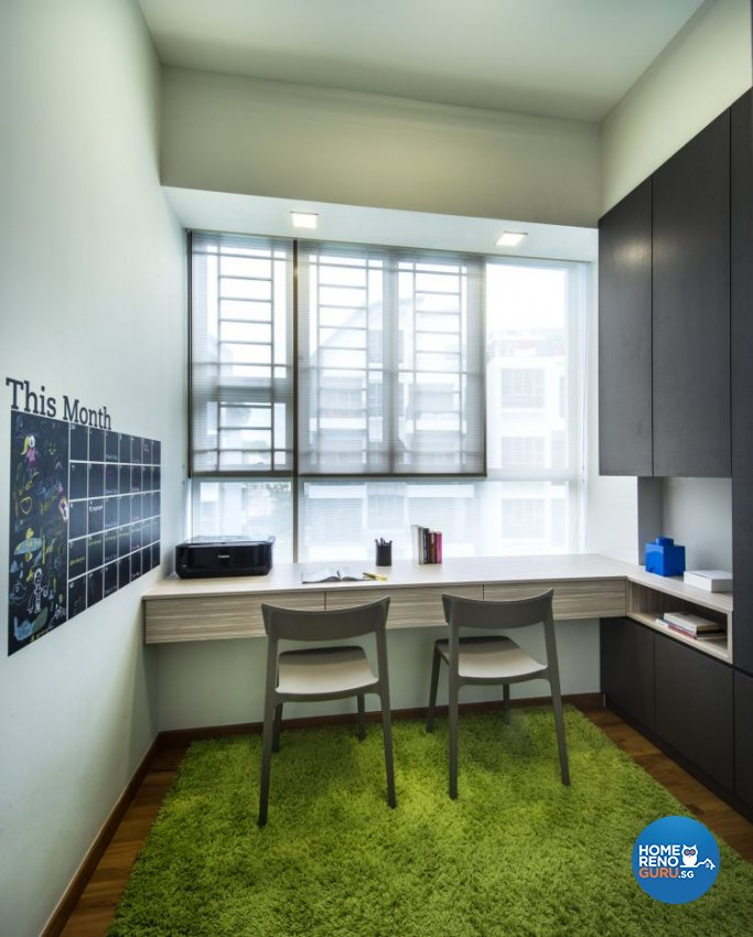Eclectic, Industrial, Modern Design - Study Room - Condominium - Design by Ciseern by designer furnishings Pte Ltd