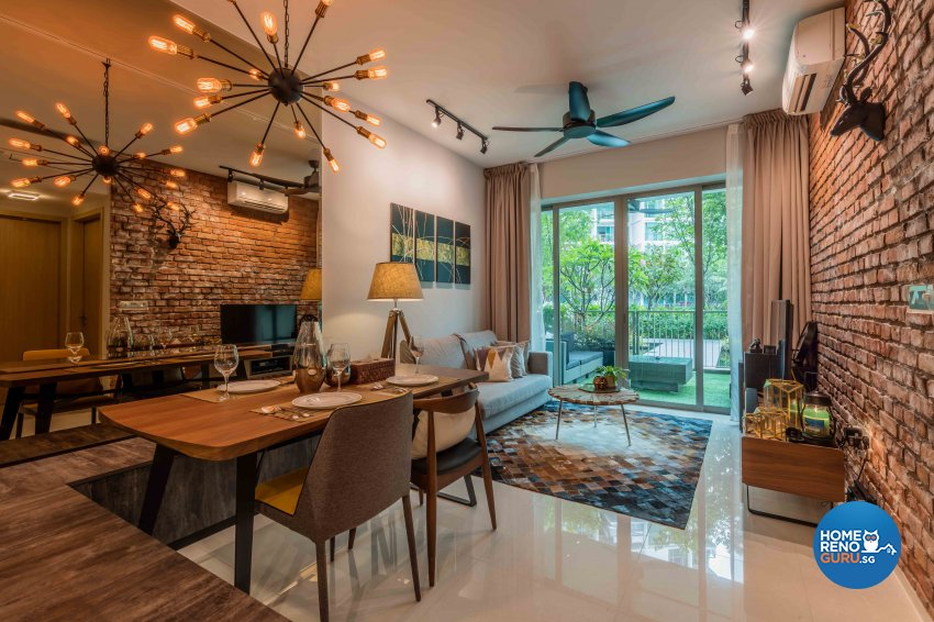 Industrial, Rustic, Scandinavian Design - Dining Room - Condominium - Design by Ciseern by designer furnishings Pte Ltd