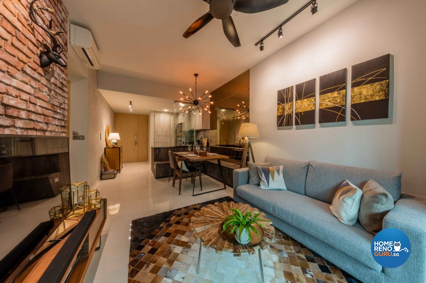 Industrial, Rustic, Scandinavian Design - Living Room - Condominium - Design by Ciseern by designer furnishings Pte Ltd