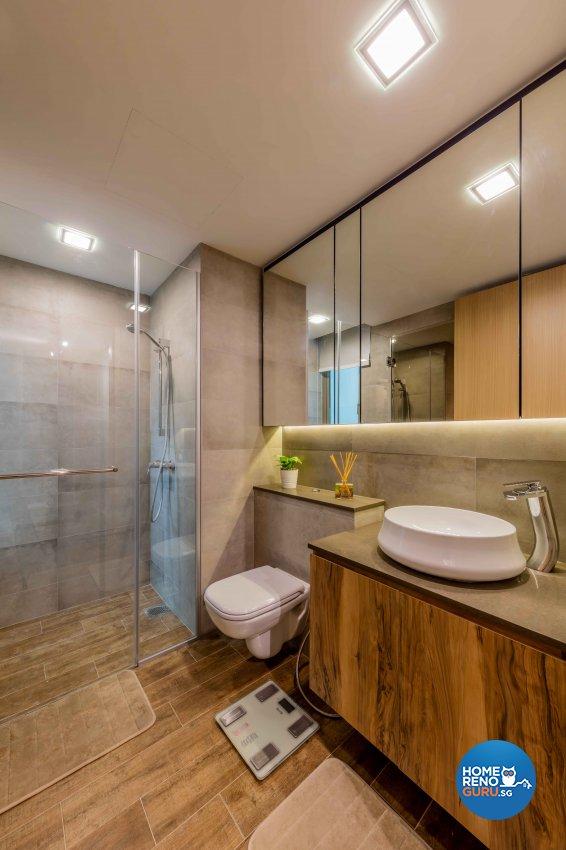 Industrial, Rustic, Scandinavian Design - Bathroom - Condominium - Design by Ciseern by designer furnishings Pte Ltd