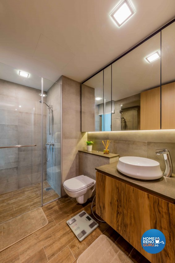 Industrial, Rustic, Scandinavian Design - Bathroom - Condominium - Design by Ciseern by designer furnishings Pte Ltd