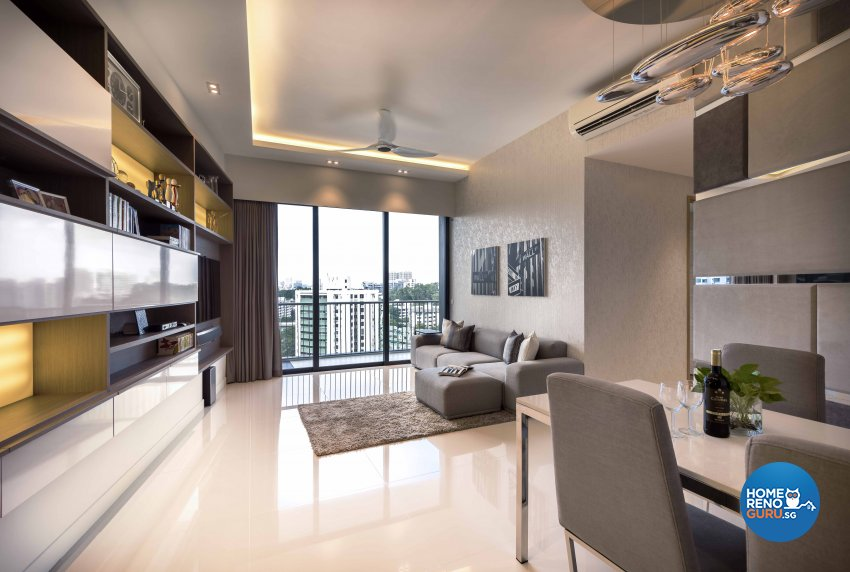 Contemporary, Modern Design - Living Room - HDB 3 Room - Design by Ciseern by designer furnishings Pte Ltd