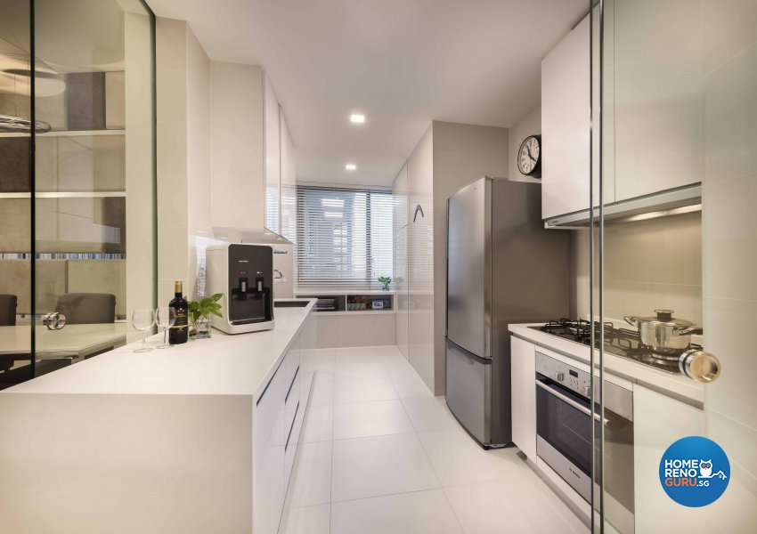 Contemporary, Modern Design - Kitchen - HDB 3 Room - Design by Ciseern by designer furnishings Pte Ltd