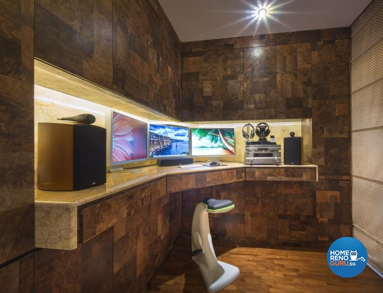 Modern, Retro, Victorian Design - Entertainment Room - Condominium - Design by Ciseern by designer furnishings Pte Ltd