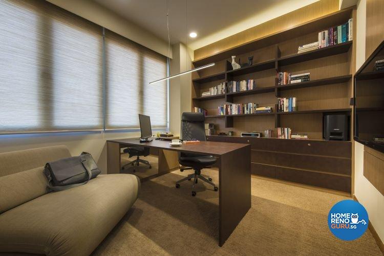 Contemporary, Modern Design - Study Room - Condominium - Design by Ciseern by designer furnishings Pte Ltd