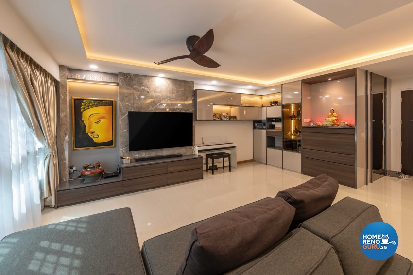 Contemporary, Modern Design - Living Room - HDB 5 Room - Design by Ciseern by designer furnishings Pte Ltd