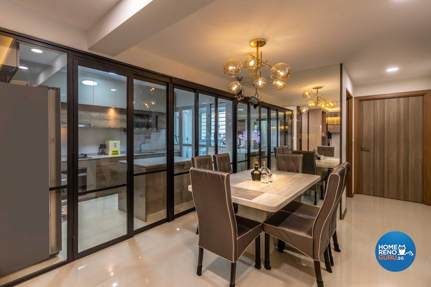 Contemporary, Modern Design - Dining Room - HDB 5 Room - Design by Ciseern by designer furnishings Pte Ltd