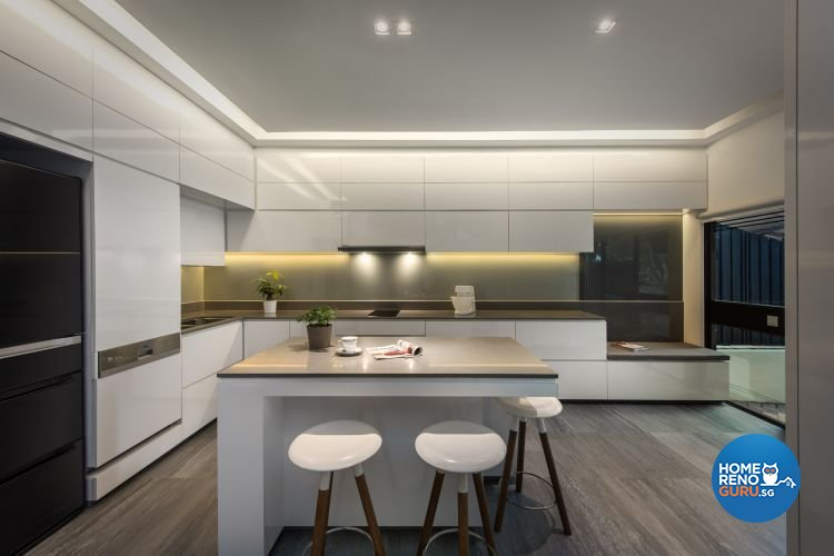 Contemporary, Minimalist, Modern Design - Kitchen - Landed House - Design by Ciseern by designer furnishings Pte Ltd