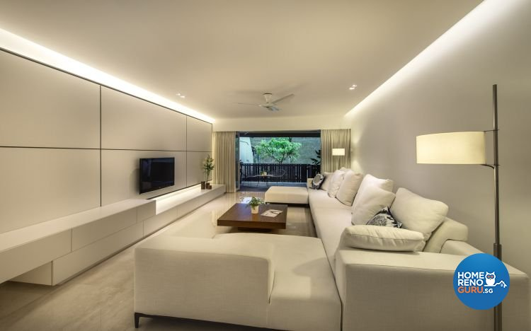 Contemporary, Minimalist, Modern Design - Living Room - Landed House - Design by Ciseern by designer furnishings Pte Ltd