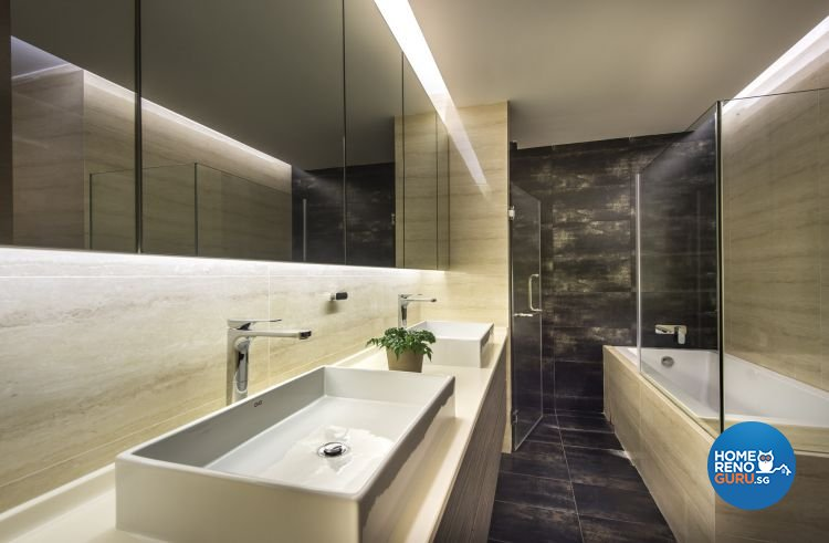 Contemporary, Minimalist, Modern Design - Bathroom - Landed House - Design by Ciseern by designer furnishings Pte Ltd