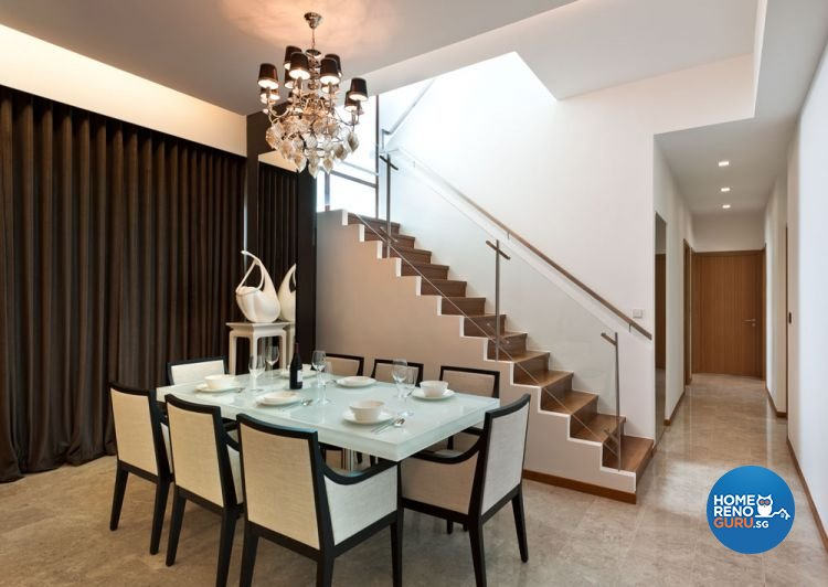 Classical, Contemporary Design - Dining Room - Landed House - Design by Ciseern by designer furnishings Pte Ltd