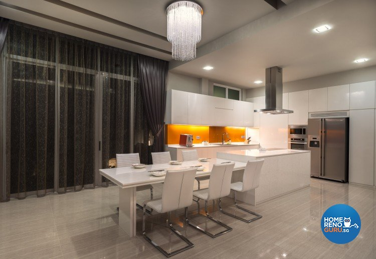 Contemporary, Minimalist, Modern Design - Dining Room - Landed House - Design by Ciseern by designer furnishings Pte Ltd