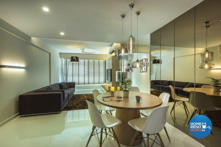 Contemporary, Modern Design - Dining Room - HDB 4 Room - Design by Ciseern by designer furnishings Pte Ltd