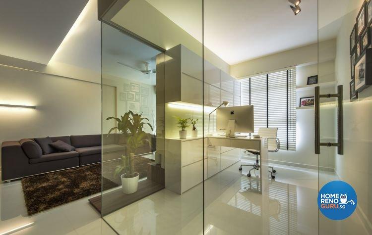 Contemporary, Modern Design - Study Room - HDB 4 Room - Design by Ciseern by designer furnishings Pte Ltd