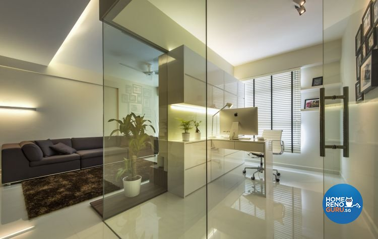 Contemporary, Modern Design - Study Room - HDB 4 Room - Design by Ciseern by designer furnishings Pte Ltd