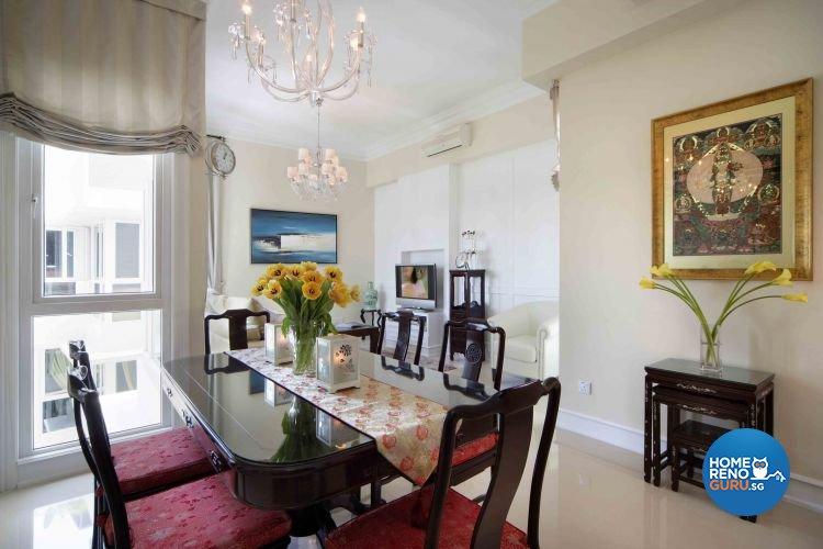 Classical, Modern, Scandinavian Design - Dining Room - Condominium - Design by Ciseern by designer furnishings Pte Ltd