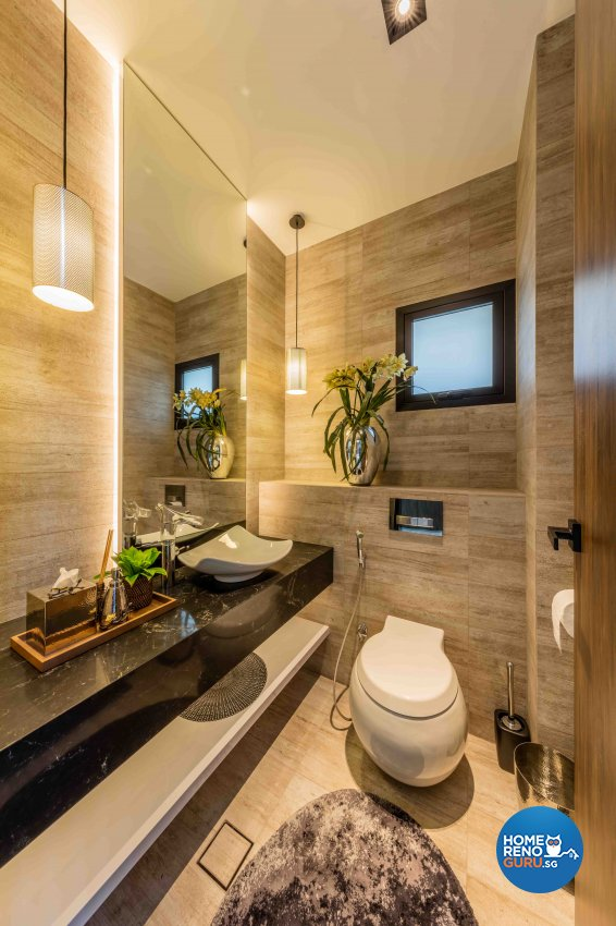 Contemporary Design - Bathroom - Landed House - Design by Ciseern by designer furnishings Pte Ltd