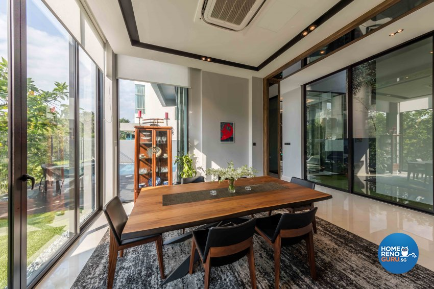 Contemporary Design - Dining Room - Landed House - Design by Ciseern by designer furnishings Pte Ltd